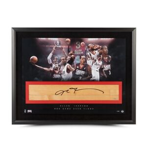 Allen Iverson Signed Autographed 24X36 Framed Floor The Question 76ers #/30 UDA