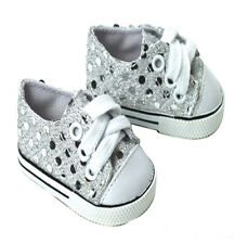 Silver Sequins Sneakers Fits 18 inch American Girl Dolls