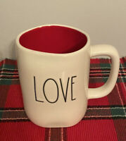 Rae Dunn Red Inside LOVE  LL Mug NEW