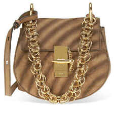 bc9e744f6c Chloe Small Drew Bijou Suede and Leather Shoulder Bag- Nut CHC18WS107A42 20C