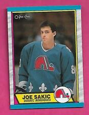 1989-90 OPC # 113 NORDIQUES JOE SAKIC ROOKIE  NRMT-MT CARD (INV# C3133)