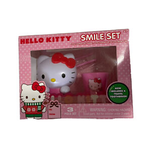 cup Travel gift bathroom WHITE Hello Kitty lovely wash set 2*soft toothbrush