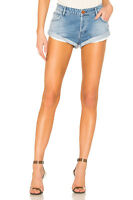 One Teaspoon Shorts Bandits 22 Blue Hollywood Low W Distressed Denim Trash NWT