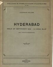Hyderabad. Issue of September 1902- 1/4 Anna Blue by A. Holland.