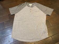 Lucky Brand Handcrafted Henley Two Tone Pocket Crew Crewneck T Shirt - Size XL