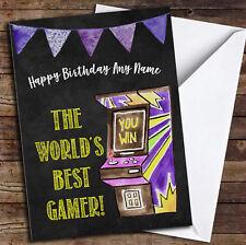 Worlds Best Gamer Birthday Card