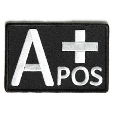 Embroidered A+ Blood ID A Positive Blood Group Sew or Iron on Patch Biker Patch