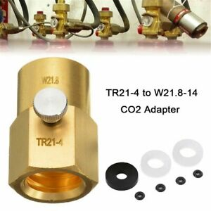 Cylinder Refill Adaptor TR21-4 to W21.8-14 with Bleed Valve For Sodastream