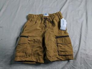 Old Navy Boy's Dry-Quick Nylon Zip-Pocket Cargo Jogger Shorts SG8 Brown Medium