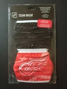 Detroit Red Wings Licensed 2 Pk Adult Face Mask Covering -50% Off SRP! FREE S&H!