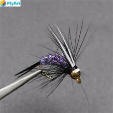 8 GOLD Testa Flash HEAD Fagiano Coda Trota Fly misto 12//10 trota temolo /& FLY