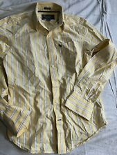 Abercrombie & Fitch Muscle Men's Long Sleeve Button Down Striped Shirt Size S