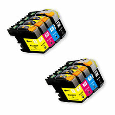 8 PK New Ink Set + chip for Brother LC203 MFC-J680DW MFC-J880DW MFC-J885DW