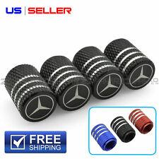 Valve Stem Caps Wheel Tire For Mercedes Benz Laser Etched Aluminum - Us Seller