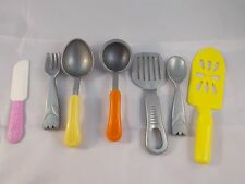 """Mattel Silver Spoon Fork Spatula & Others Utensils lot Spatula is 6"""" 2000"""