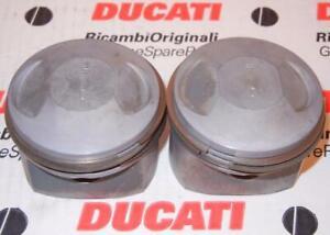 1979-1982 Ducati 500 Pantah PAIR piston assemblies with rings stock 74mm bore
