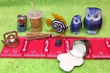 Great Group of miniatures Owls, Spilt Milk, McDonalds Cup, Old Pepsi Can, Salt,