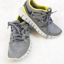 Nike Free Run 2 Running Athletic Shoes Womens Size 6.5 Grey Yellow #472526-007