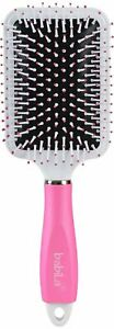 Babila Plastic Paddle Brush With Cleaning Comb, 140 G, Pink Pack of 1