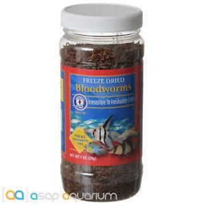 San Francisco Bay Brand Freeze Dried Blood Worms 28 grams (1 oz) Fish Food