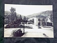 VINTAGE FOTO FOTOGRAFIA TRENO FERROVIA FS PIACENZA RAILROAD STAZIONE BETTOLA