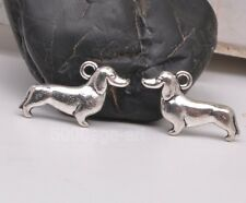 15pcs Tibetan Silver Charm Stereoscopic Dog Pendant Beads Fit Jewelry A3122