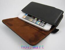 for iPhone 8 7 6s 4.7 Genuine Leather holster Belt clip Case For Samsung s6 s7