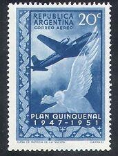 ARGENTINA 1951 Piano/Bird/Aviazione/DC4/Condor 1v n24219