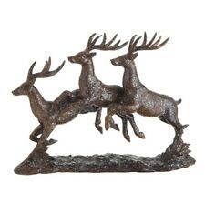 "Raz Imports~12"" Christmas Leaping Brown Resin Deer~Centerpiece Figurine/Dancing"