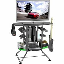Atlantic Centipede Game Storage and TV Stand w/ BLK Carbon Fiber Top & BLK Steel