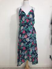 Joie Small Floral Flutter Midi Dress Ruzena Floral Print Wrap S Racerback