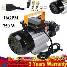 750W 16Gpm Commercial Electric Oil Pump Self Priming Transfer Fuel 110V 60L/Min