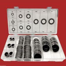 150-tlg. Bonded Seal Dichtring Sortiment M6-M24 Ölablass-Schrauben-Dichtung Satz