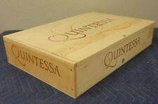 "Quintessa Winery Napa Wine Crate holds 6 btt size 5""x22""x15"""