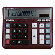 SHARP EL-2135 Computer Keys 12 Digits Red Desktop Business Office Calculator