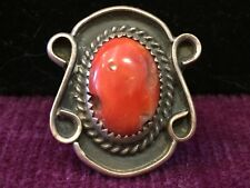 vintage sterling coral native american rings