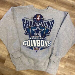 DALLAS COWBOYS SUPER BOWL 30 CHAMPS VINTAGE 1995 NFL FOOTBALL SWEATSHIRT LARGE