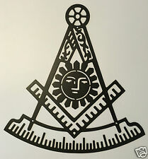 Masonic Past Master Square and Compass Metal Wall Art Sign