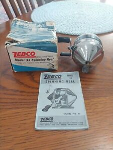 "Vintage Zebco  "" SPINNER Model 33 reel with box  Made in U.S.A."