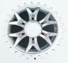 26T SPROCKET for ONE PIECE CRANK Bike/Bicycle SILVER/BLACK DECAL (Square) NEW