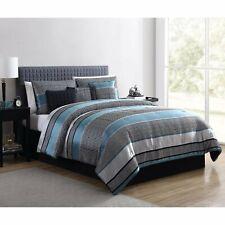 Full/ Queen Comforter Set Bedding Bedspread Bedroom Decor Jacquard Teal 7pcs