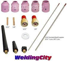 "TIG Welding Torch 9/20 Kit Collet-Gas Lens-Tungsten 3/32""-1/8"" T51A | US Seller"