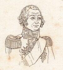 Portrait XIXe Jean-Baptiste Jourdan Napoléon Bonaparte Premier Empire 1821