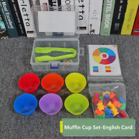 1 Set Counting Bears Stacking Cups Montessori Rainbow Kids Bady Educational Toys