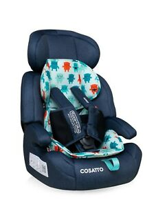 New Cosatto Zoomi group 123 anti escape car seat Cuddle Monster 2 from 9 to 36kg