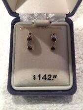 Womens Genuine Sapphire Pierced Earrings New In Box