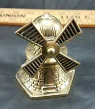 """Vintage Collectible Brass Holland Windmill Bell 2.5"""""""
