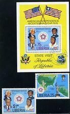AMERICAN BICENTENNIAL YEAR> U.S> LIBERIA  {2} + S/S/  >>1976   N/H