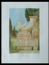 FRAGMENTS ANTIQUES, JEAN HULOT - LITHOGRAPHIE 1910 - RHYTON, ROME, ANTIQUITE