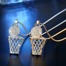 Unisex Hip Hop Necklace Basketball Pendant Round Chain Creative Jewelry Gift 1PC